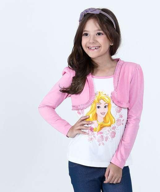 Image_Blusa Infantil Princesa Aurora Manga Longa Disney