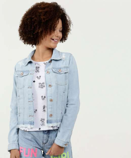 Image_Jaqueta Juvenil Jeans Puídos Marisa