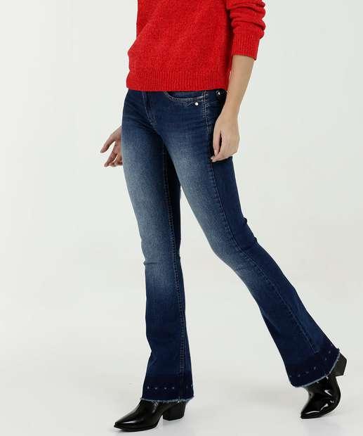 b056683a48b06 Calça Feminina Flare Stretch By Sabrina Sato Zune Jeans