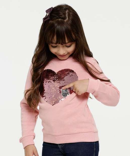 Image_Blusão Infantil Moletom Coração Paetês Marisa