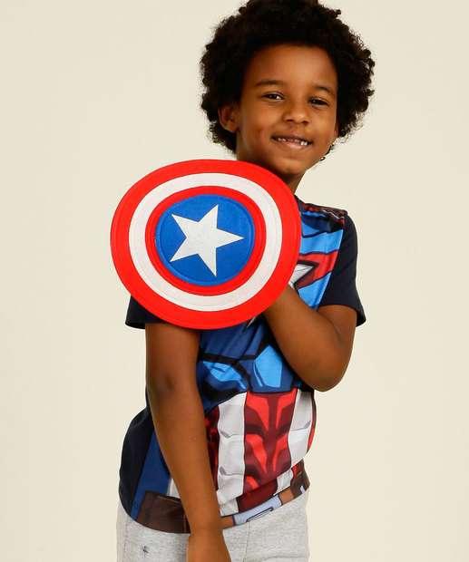 Image_Camiseta Infantil Capitão América Brinde Marvel Tam 4 a 10