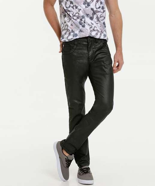 Image_Calça Masculina Jeans Resinada Reta Zune Jeans