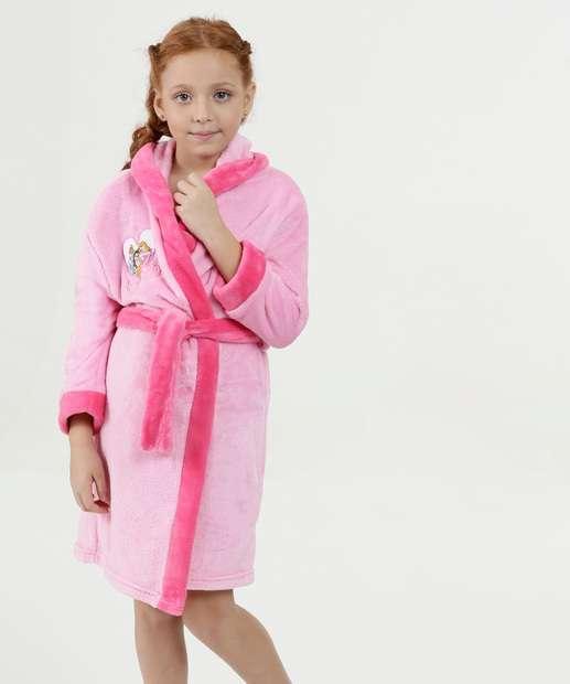 Image_Roupão Infantil Plush Princesas Disney
