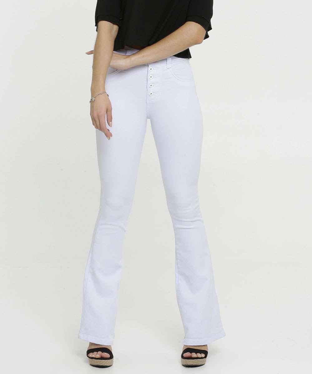 Calça Jeans Flare Stretch Feminina Biotipo