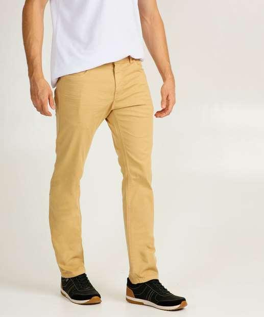 Image_Calça Masculina Sarja Reta Bolsos Zune Jeans