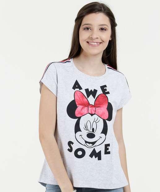Image_Blusa Juvenil Estampa Minnie Metalizada Manga Curta Disney