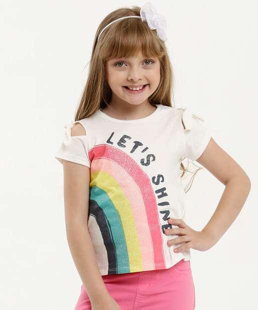 Image_Blusa Infantil Open Shoulder Estampa Arco Íris Marisa