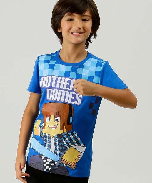 Image_Camiseta Infantil Estampada Authentic Games Tam 4 a 10