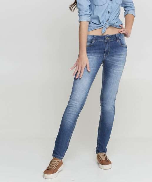 Image_Calça Juvenil Skinny Jeans Bolsos Razon