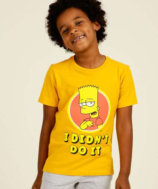 Image_Camiseta Infantil Manga Curta Bart Simpsons Tam 4 a 10