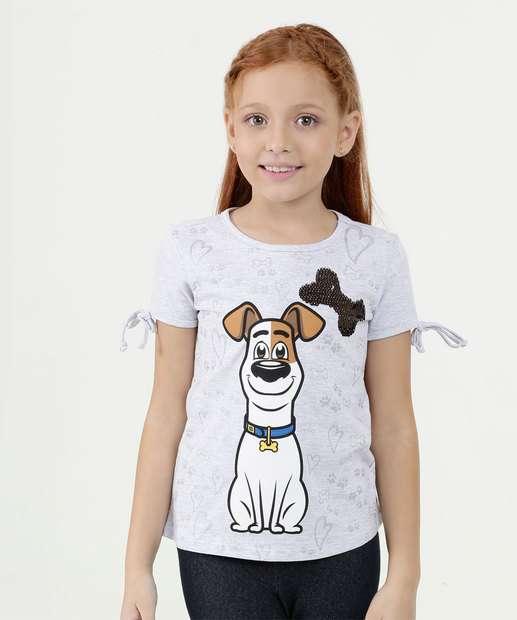 Image_Blusa Infantil Estampa Frontal Pets Manga Curta Universal