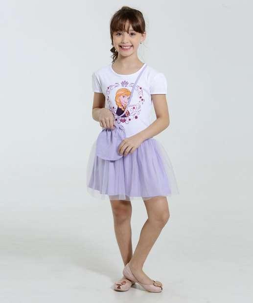 Image_Vestido Infantil Frozen Ana Tule Bolsa Disney