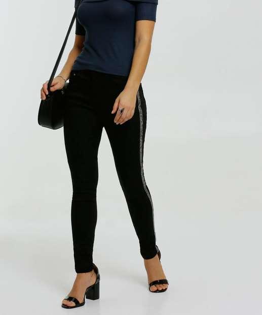 Image_Calça Feminina Sarja Skinny Recorte Zune Jeans