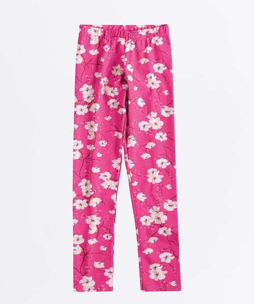 Image_Calça Infantil Legging Estampa Floral
