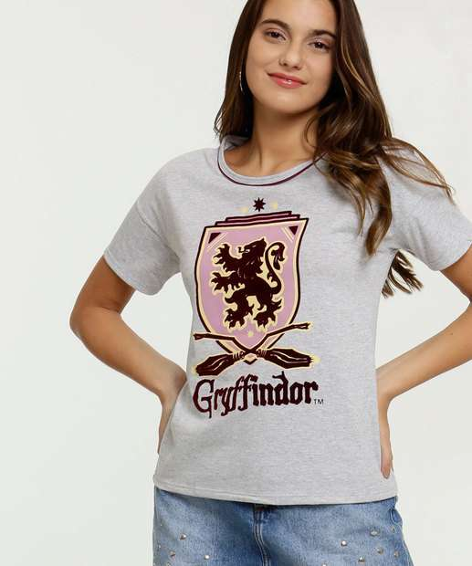 Image_Blusa Feminina Estampa Harry Potter Manga Curta Warner Bros