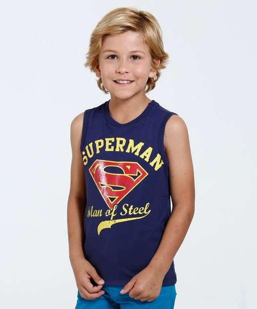 Image_Regata Infantil Estampa Super Homem Liga da Justiç