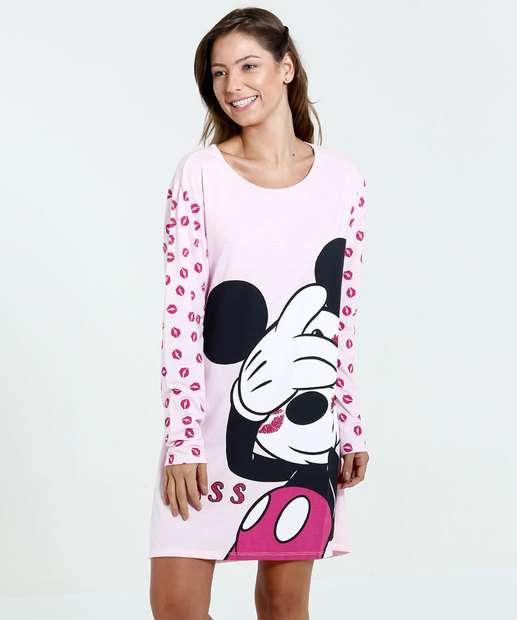 Image_Camisola Feminina Manga Longa Estampa Mickey Disney