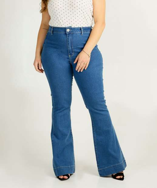 Image_Calça Plus Size Jeans Flare Feminina Marisa
