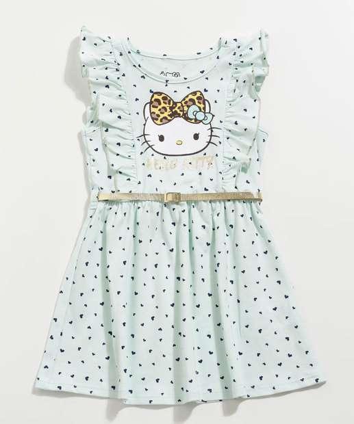 Image_Vestido Infantil Estampa Hello Kitty Cinto Sanrio