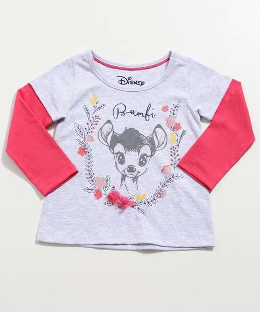 Image_Blusa Infantil Estampa Bambi Manga Longa Disney