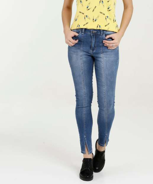 Calça Feminina Jeans Skinny Stretch Razon 138bdf47ea6