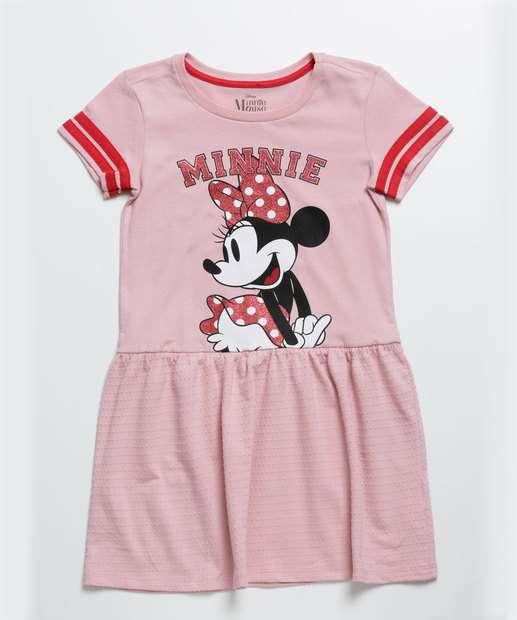 Image_Vestido Infantil Manga Curta Minnie Disney Tam 4 a 10