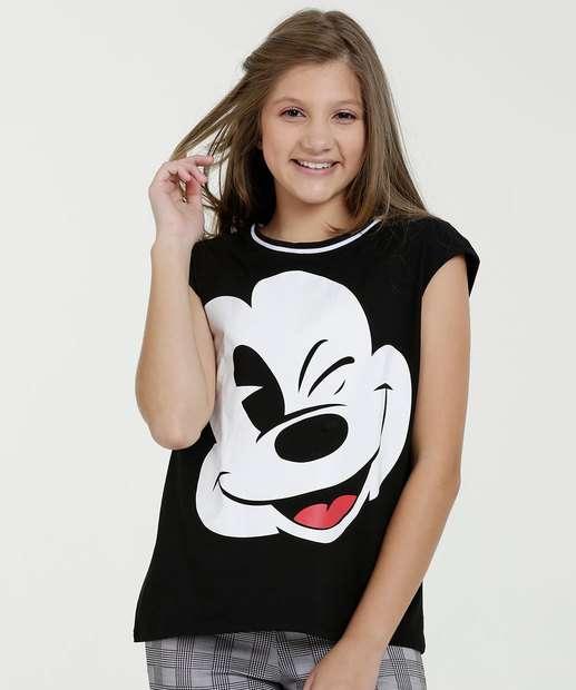 Image_Blusa Juvenil Estampa Mickey Sem Manga Disney