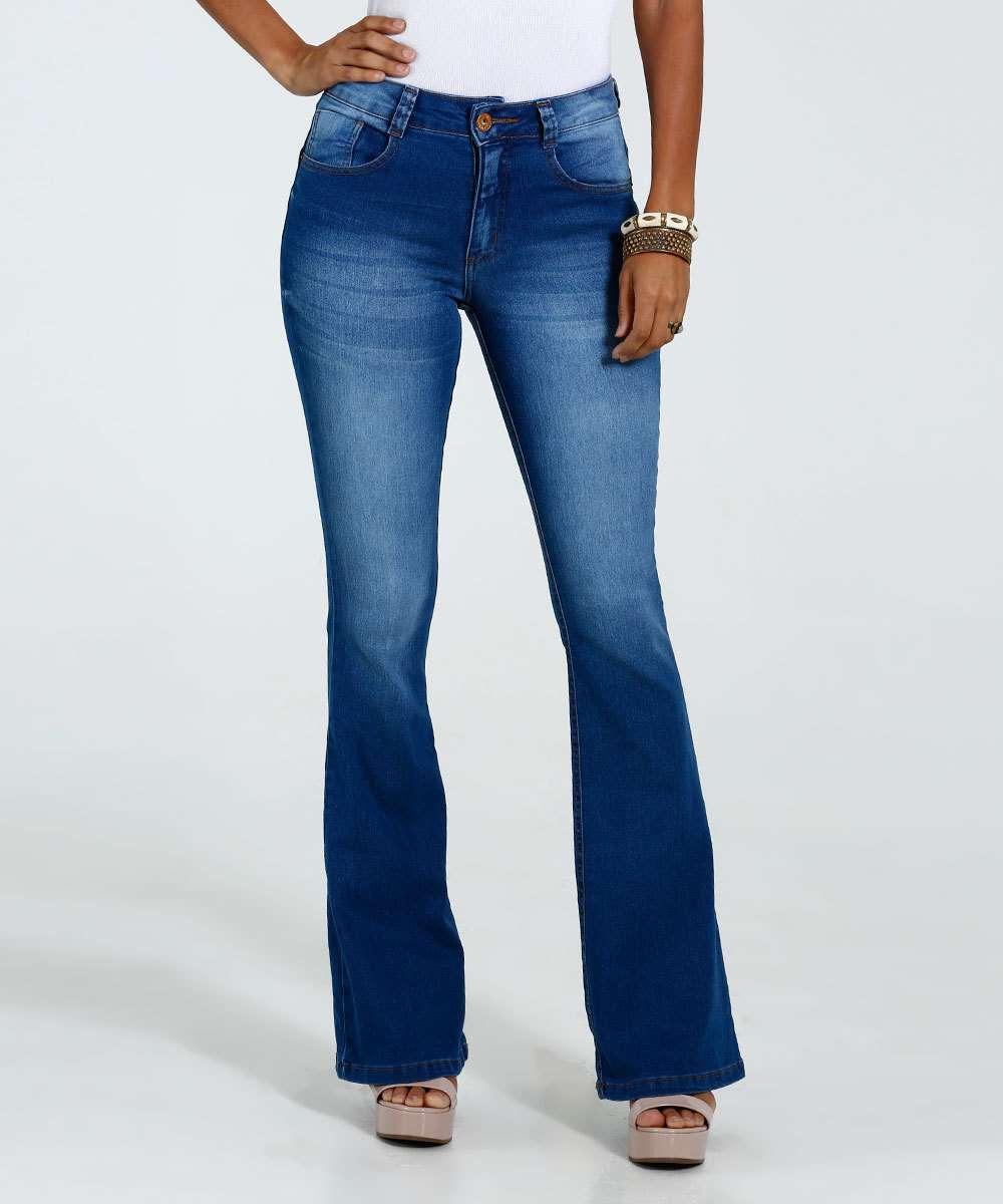 379e6b4dc Calça Feminina Flare Jeans Stretch Biotipo | Marisa