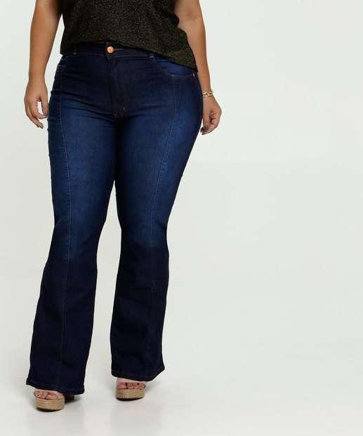 Image_Calça Jeans Flare Stretch Feminina Plus Size Biotipo
