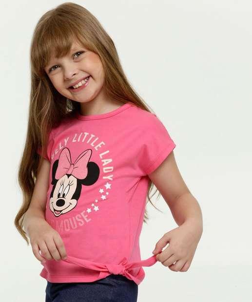 Image_Blusa Infantil Estampa Minnie Glitter Manga Curta Disney
