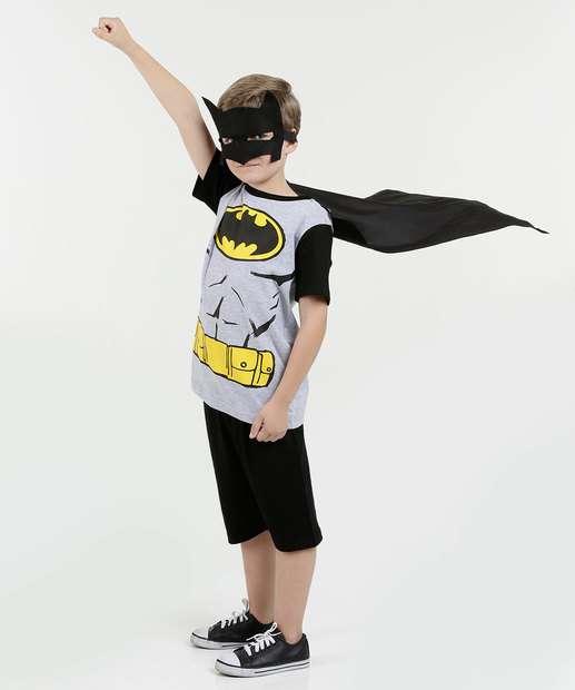Image_Pijama Infantil Batman Manga Curta Liga da Justiça