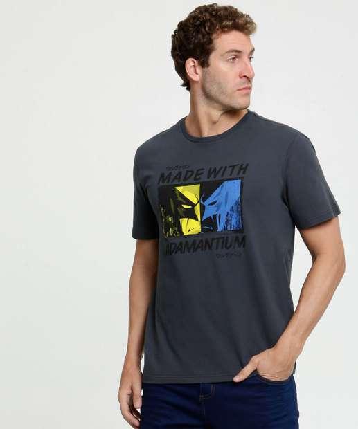 Image_Camiseta Masculina Estampa Wolverine Marvel