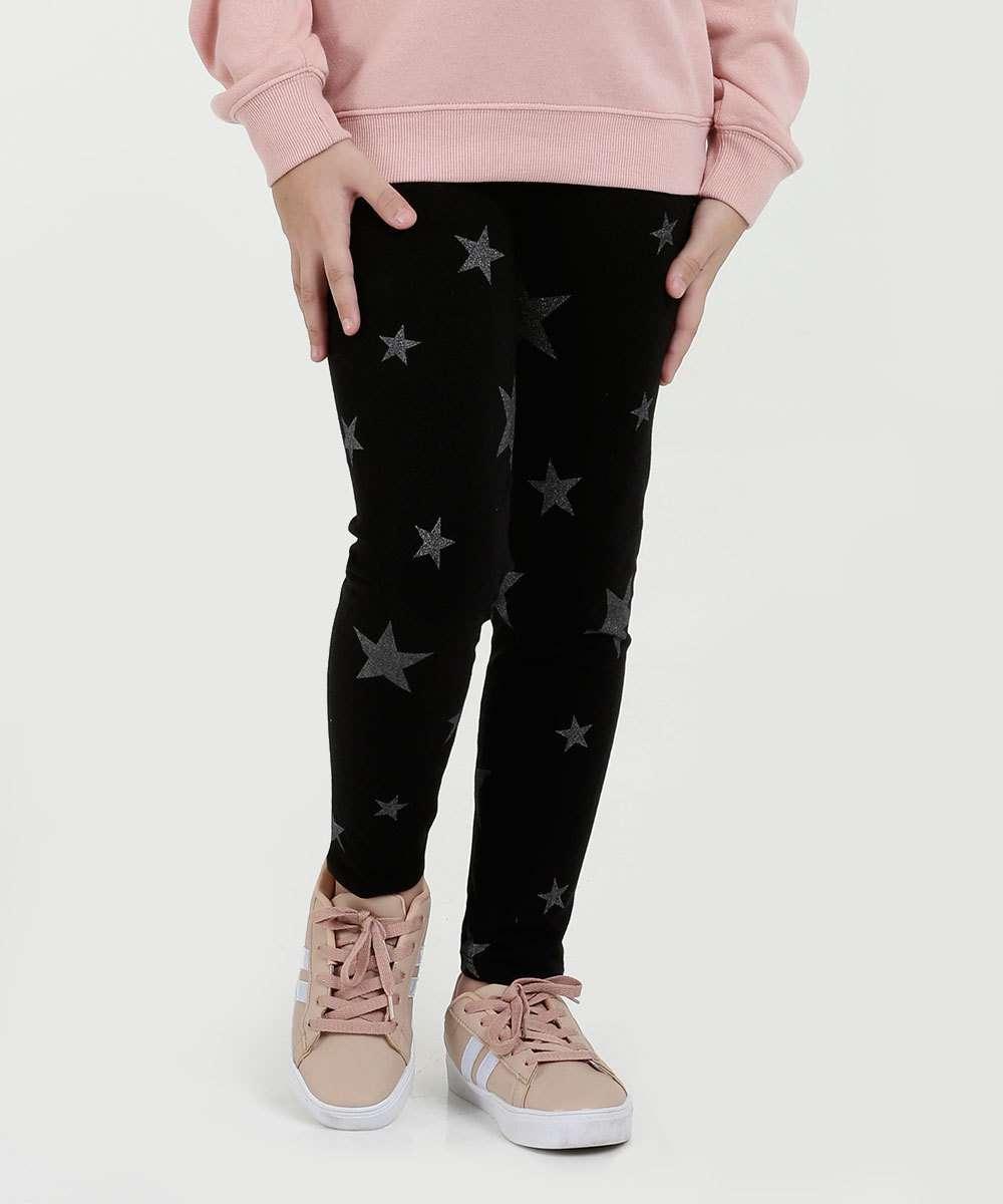 Calça Infantil Legging Estampa Estrelas Marisa