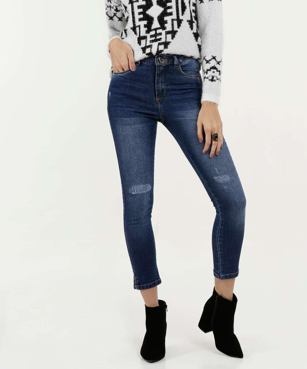 Calça Feminina Jeans Stretch Cigarrete Razon