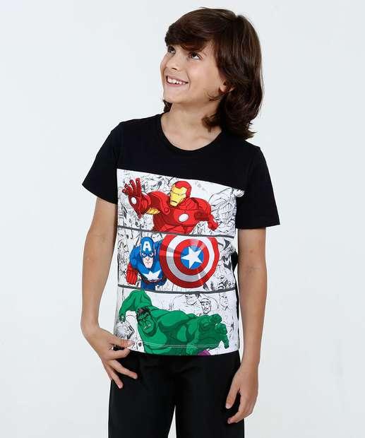 Image_Camiseta Infantil Estampa Os Vingadores Marvel