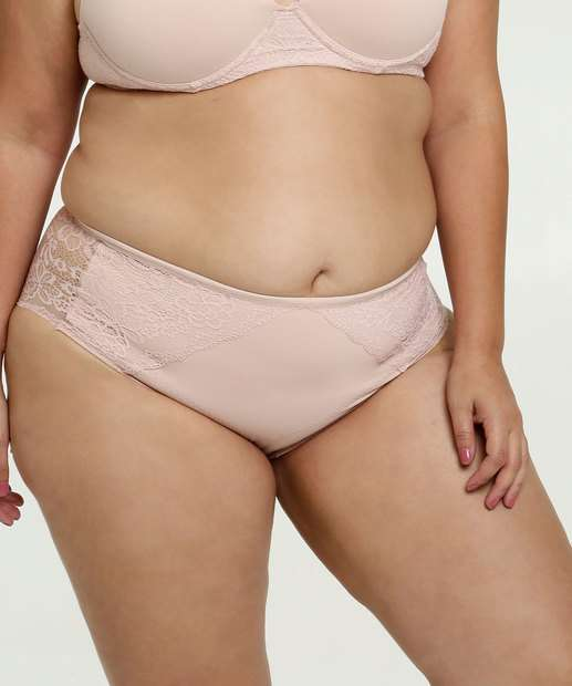 Image_Calcinha Feminina Modeladora Renda Plus Size Bonjour