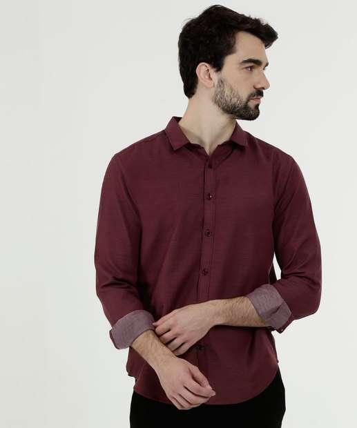 Image_Camisa Masculina Estampa Bolinhas Manga Longa MR