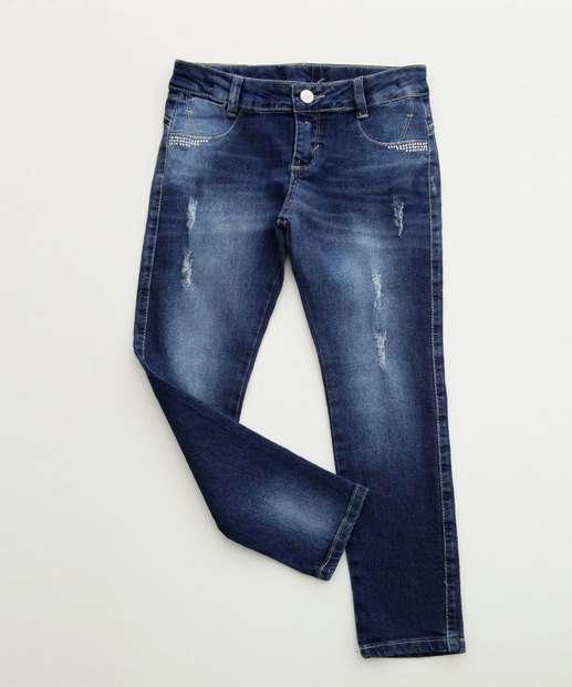 Image_Calça Infantil Jeans Stretch Puídos