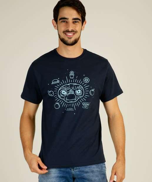 Image_Camiseta Masculina Estampa ET Manga Curta Univesal