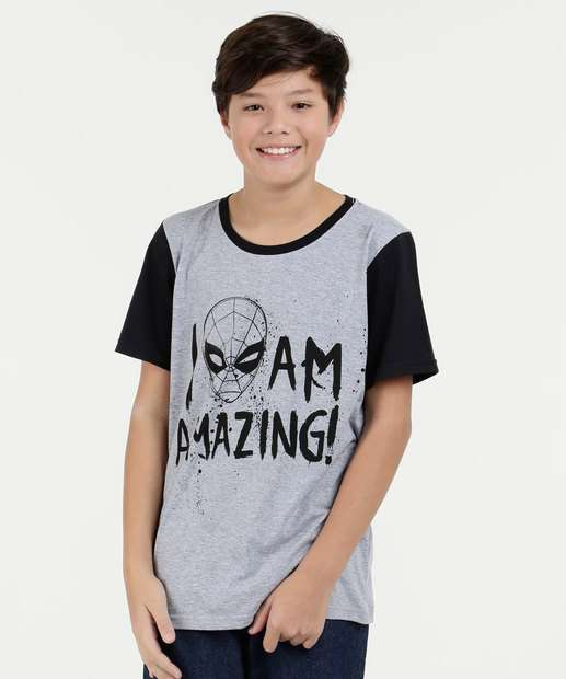 Image_Camiseta Juvenil Estampa Homem Aranha Manga Curta Marvel