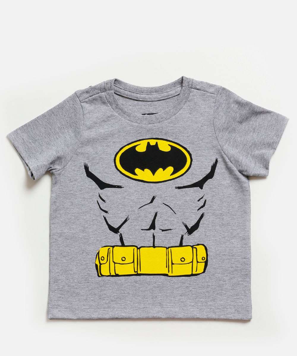 Camiseta Infantil Estampa Batman Capa Warner