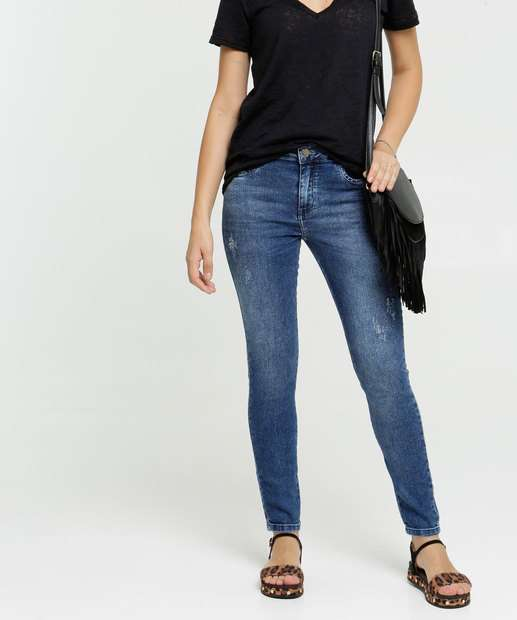 Image_Calça Skinny Feminina Puídos Zune Jeans By Sabrina Sato