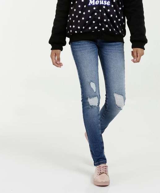 Image_Calça Juvenil Jeans Skinny Puídos Marisa