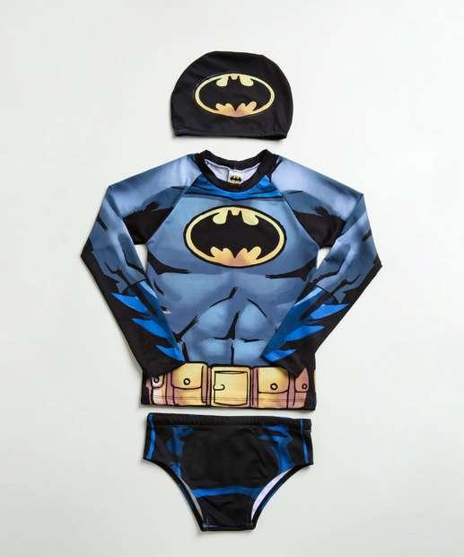 Image_Conjunto Infantil Estampa Batman Proteção UV Liga da Justiça