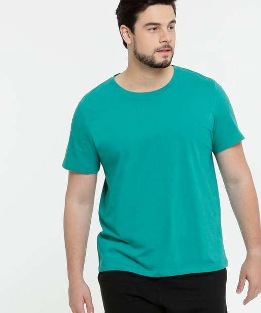 Image_Camiseta Masculina Básica Plus Size Manga Curta