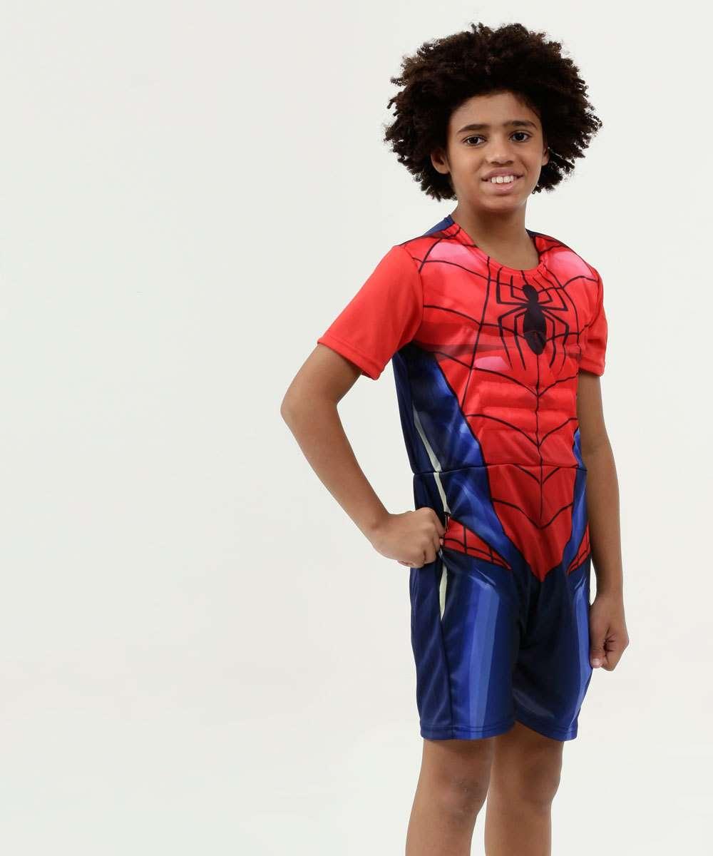 Fantasia Infantil Homem Aranha Manga Curta Marvel