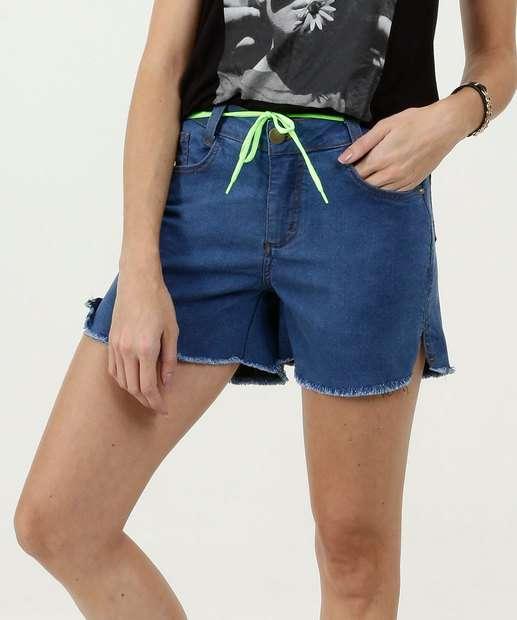 Image_Bermuda Feminina Jeans Tira Neon
