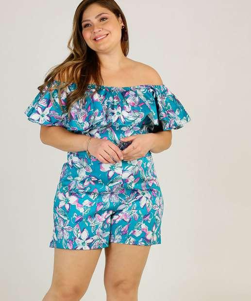 Image_Macaquinho Plus Size Ciganinha Estampa Floral