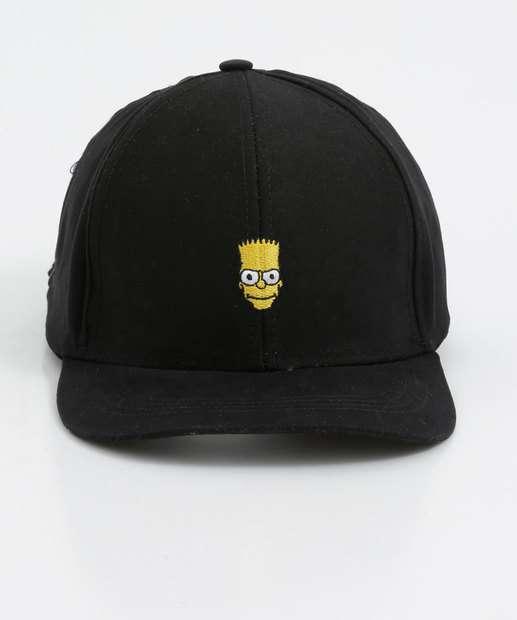 Image_Boné Masculino Bordado Bart Simpsons