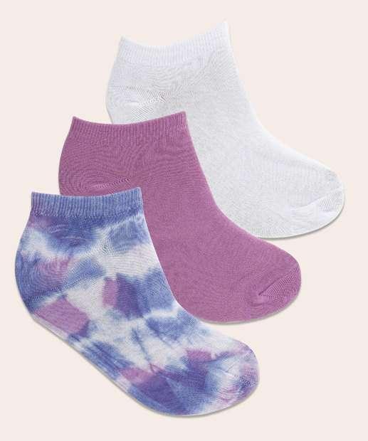 Image_Kit 3 Pares Meia Feminina Soquete Tie Dye